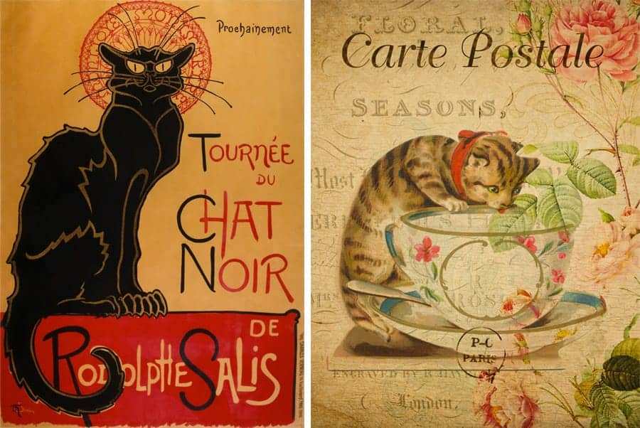 french cat posters