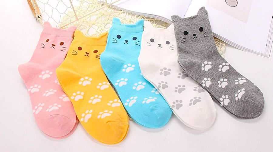 gifts for cat lovers - cat socks