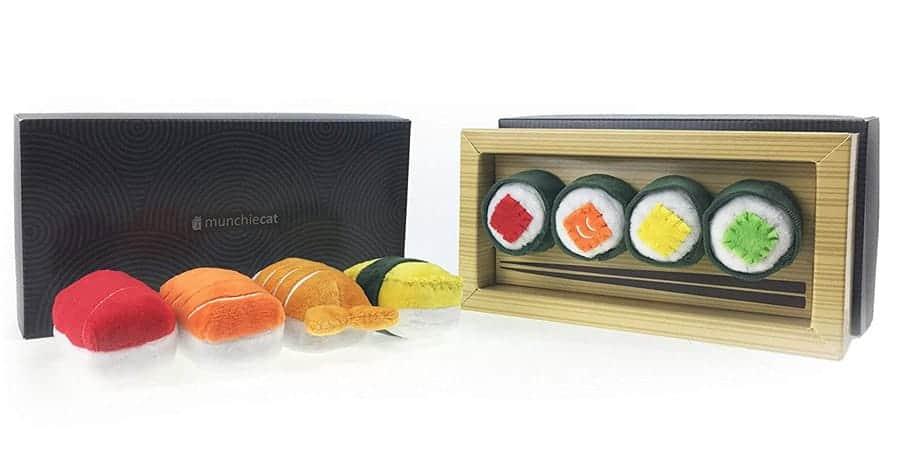 catnip sushi toy