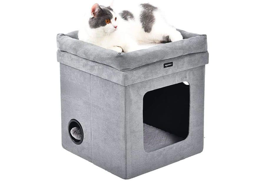 square cat hous