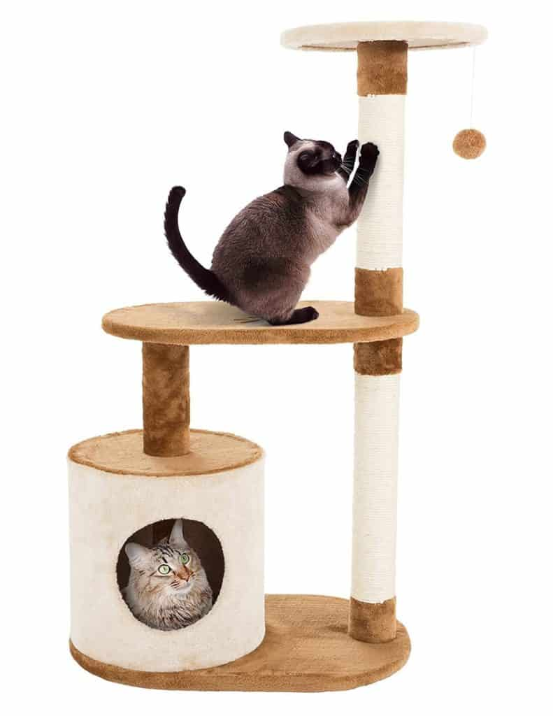 PETMAKER Cat Tree with Condo & Scratching Posts